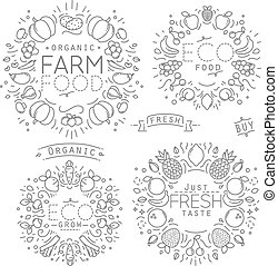 Fruits Vegetables Monograms