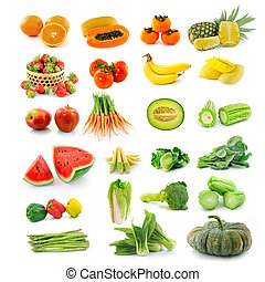 Fruits  vegetables. With beta carotene.