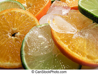 Fruits with ice