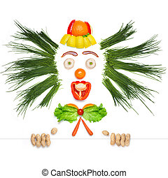 Fruity and crazy. - A creative food concept of a crazy clown...