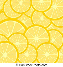 Fruity background with lemon slices