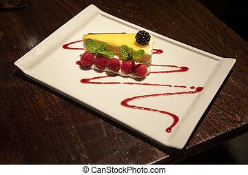 fruity, bolo queijo limão