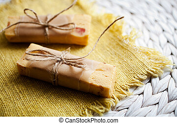 Homemade fudge with dried fruits