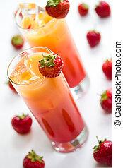 fruity, longo, bebidas
