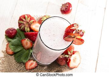 fruity, milkshake morango