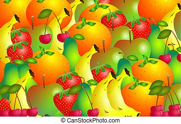 fruity - rich fruit background design