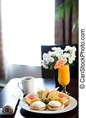 frukost, hotell