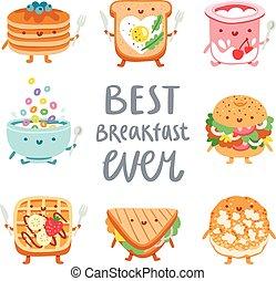 frukost, någonsin, bäst