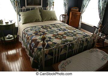 frukost rum, säng, &