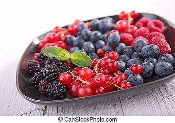 frukt, bär