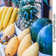 frukt, butik