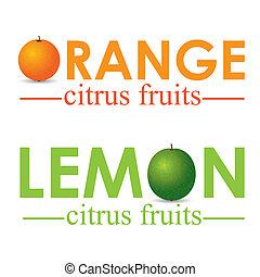 frukt, citronträd
