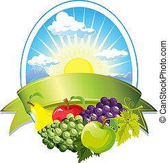 frukt, etikett