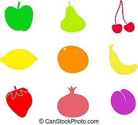 frukt, formar