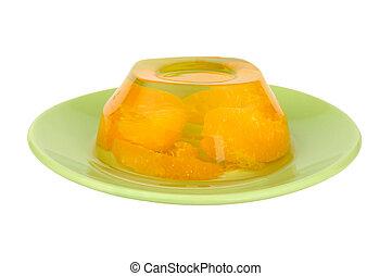 frukt, gelé