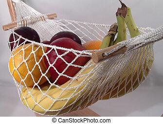 frukt, hängmatta
