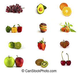 frukt, kollektion