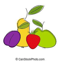 frukt, komposition