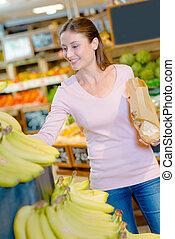 frukt, konsument, uppköp