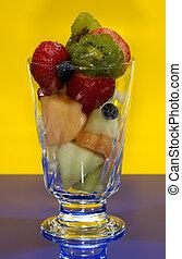 frukt, kopp