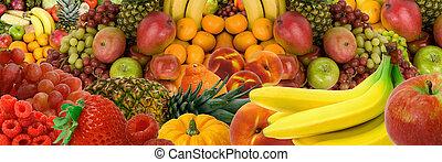 frukt, panorama