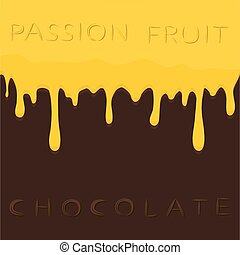 frukt, passion
