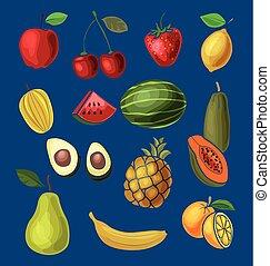 frukt, sätta