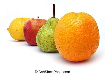 frukt, serie, 3