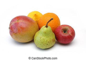frukt, serie, 4