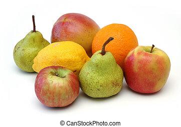 frukt, serie, 5