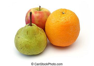 frukt, serie, 6