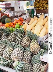 frukt, shop.