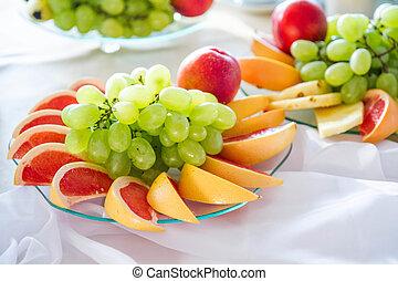 frukt uppläggningsfat