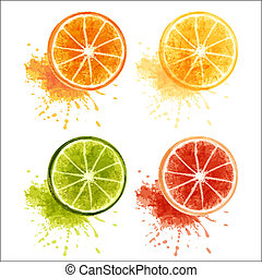 frukter, citronträd
