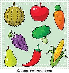 frukter, grönsaken, &, 01
