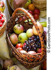 frukter och vegetables