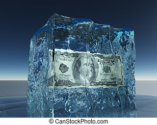 frusen, lagförslag, dollar, is, en hundra
