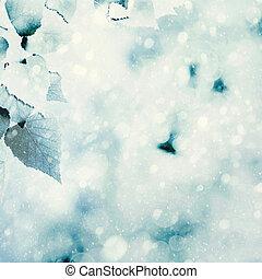frusen, summer., naturlig, vinter, bakgrunder, med, skönhet,...