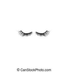 fruste occhio, vettore, sfondo nero, icon., bianco
