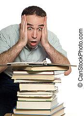frustré, étudiant