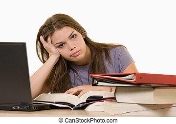 frustré, étudiant université