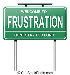 frustração, concept.