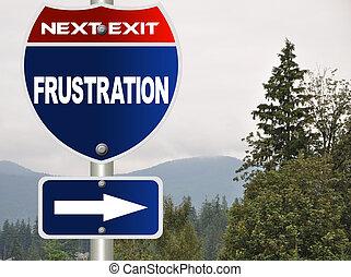 frustração, sinal estrada