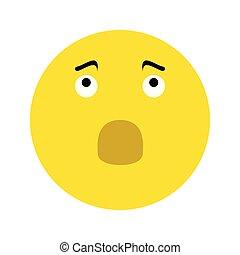 frustrado, smiley, ícone