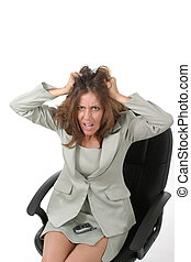 Frustrated Business Woman Pulling Her Hair Out 1