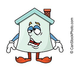 Frustrated Cartoon Home Character