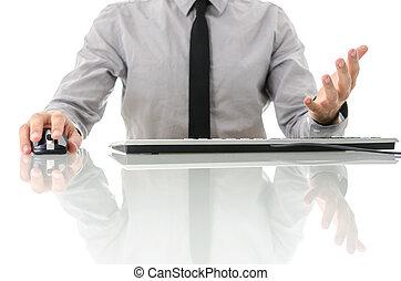 Frustrated gesture of businessman