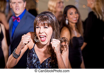Frustrated Mature Woman at a Party