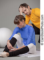 frustrated personal trainer
