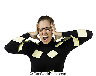 frustrated secretary